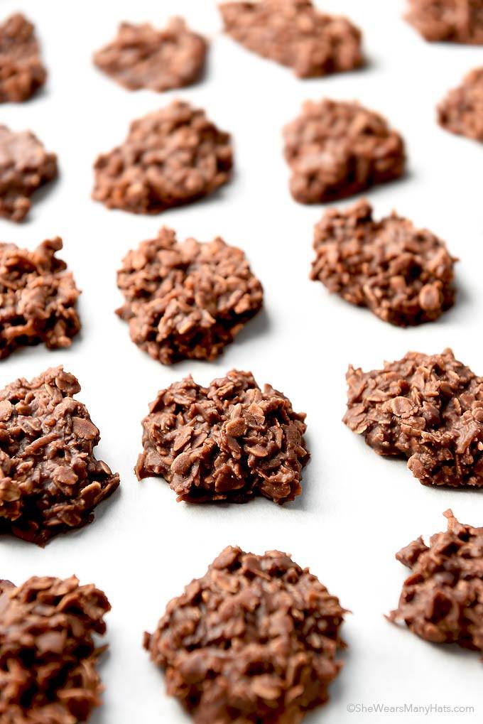 No Bake Healthy Oatmeal Cookies  Chocolate Coconut Oatmeal No Bake Cookies Recipe