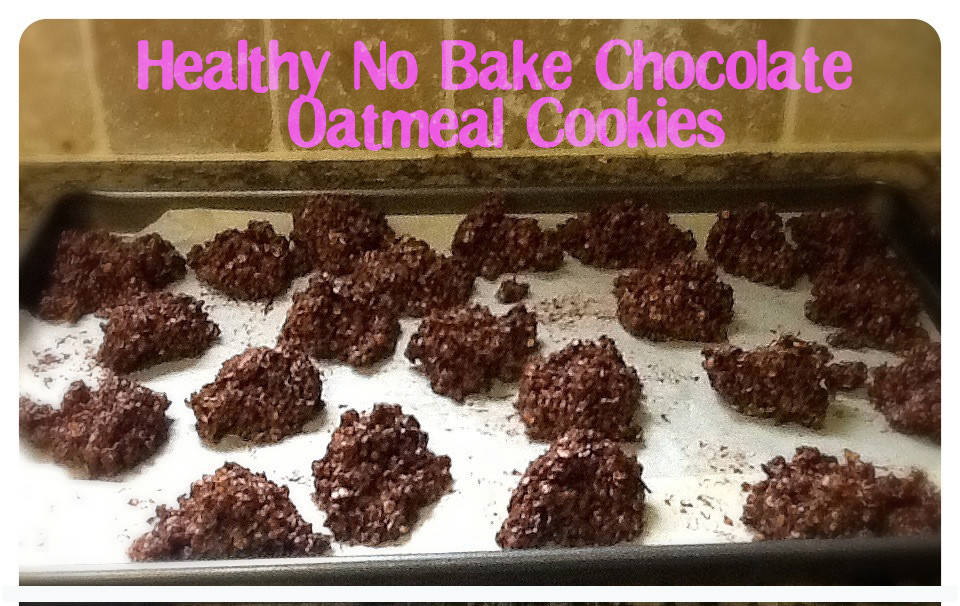 No Bake Healthy Oatmeal Cookies  This Mama s House Healthy No Bake Chocolate Oatmeal Cookies