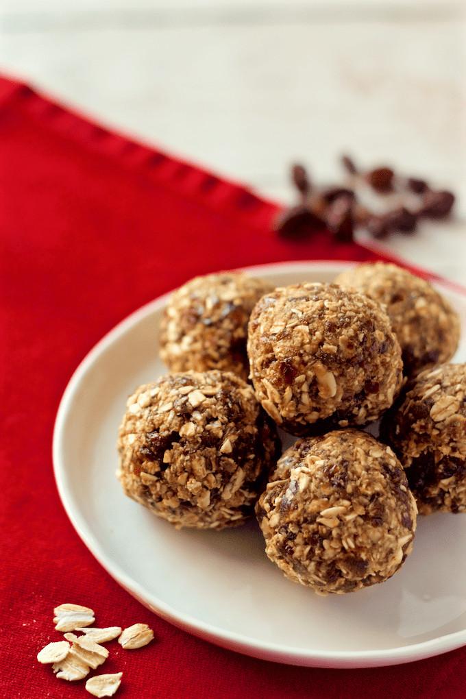 No Bake Healthy Oatmeal Cookies  No bake oatmeal raisin cookie balls Family Food on the Table