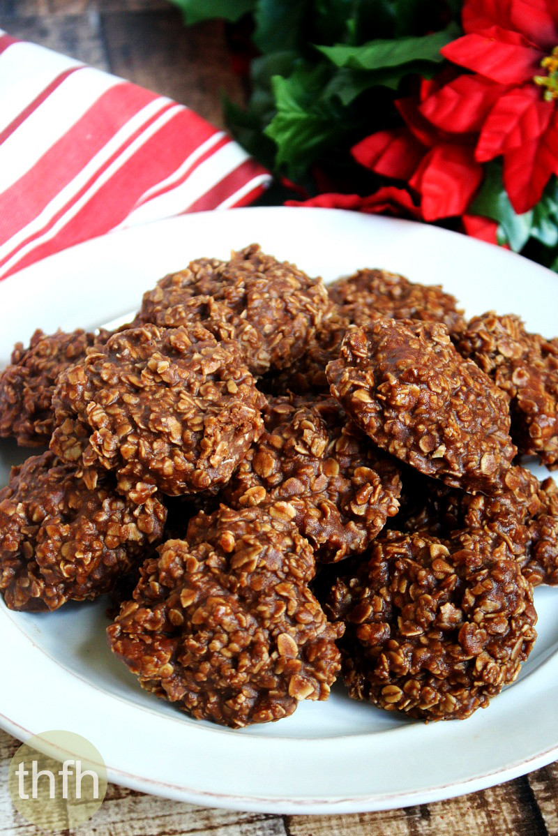 No Bake Healthy Oatmeal Cookies  Gluten Free Vegan Chocolate Peanut Butter Oatmeal No Bake