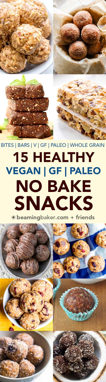 No Bake Healthy Snacks  15 Healthy Gluten Free Vegan No Bake Snacks V GF Paleo