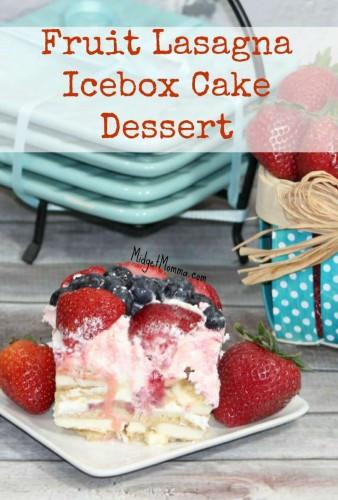 No Bake Summer Berry Lasagna  Fruit Lasagna Frozen Ice Box Cake with Strawberries