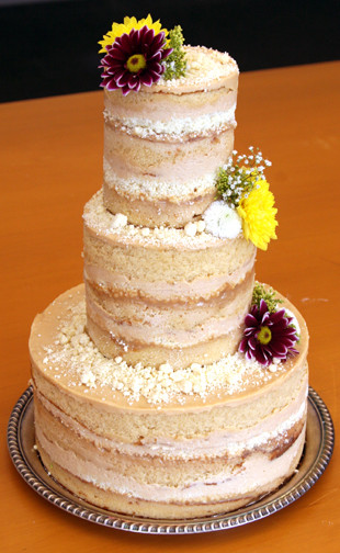 No Frosting Wedding Cakes  Un covered cake no fondant no frosting – Start a Cake