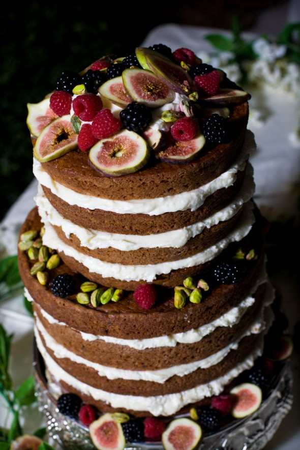 No Frosting Wedding Cakes  Wedding Trend Alert Naked Wedding Cakes Rustic Wedding Chic