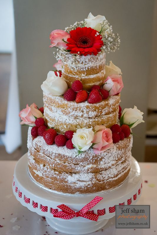 No Frosting Wedding Cakes  2014 Wedding Trend Naked cakes icing between layers