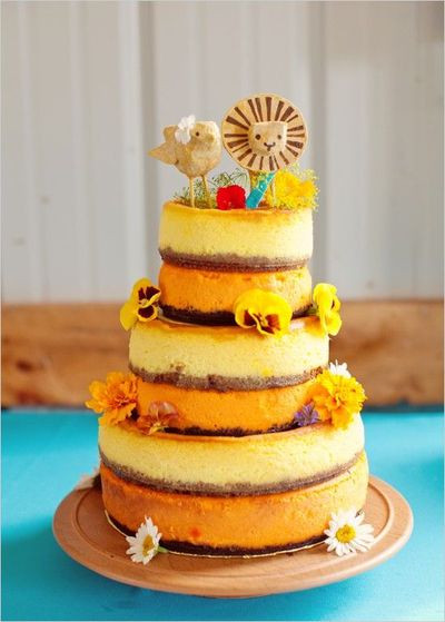 No Frosting Wedding Cakes  Rustic Wedding Cake no icing wedding cakes Juxtapost