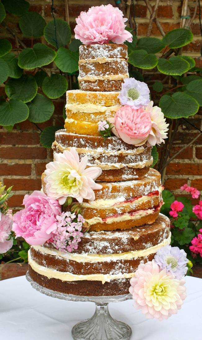 No Frosting Wedding Cakes  no frosting cake CAKES SIN FONDANT