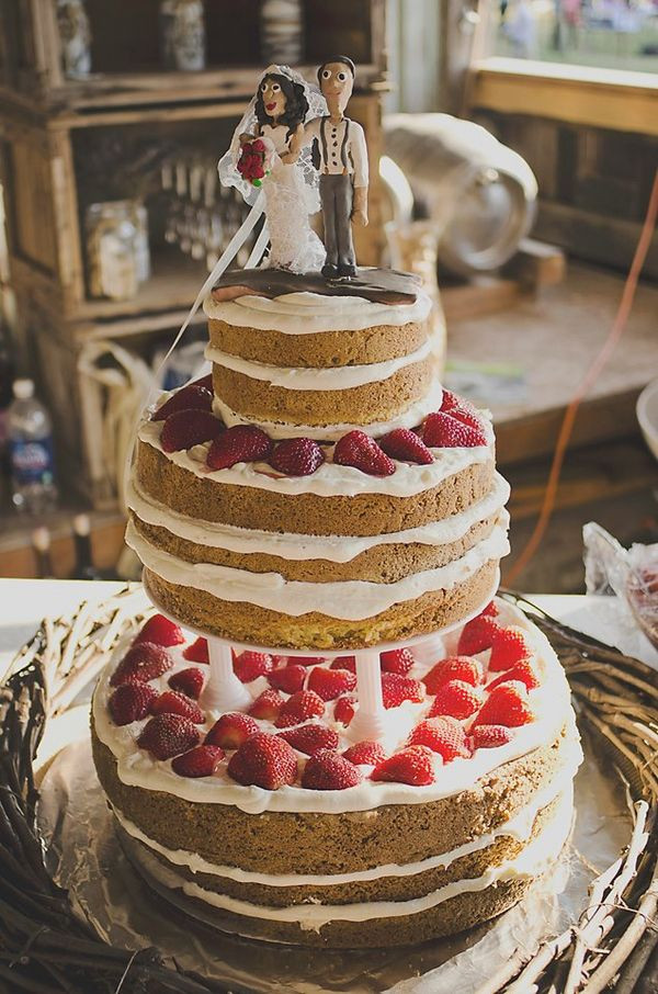 No Frosting Wedding Cakes  Wedding cake no icing idea in 2017