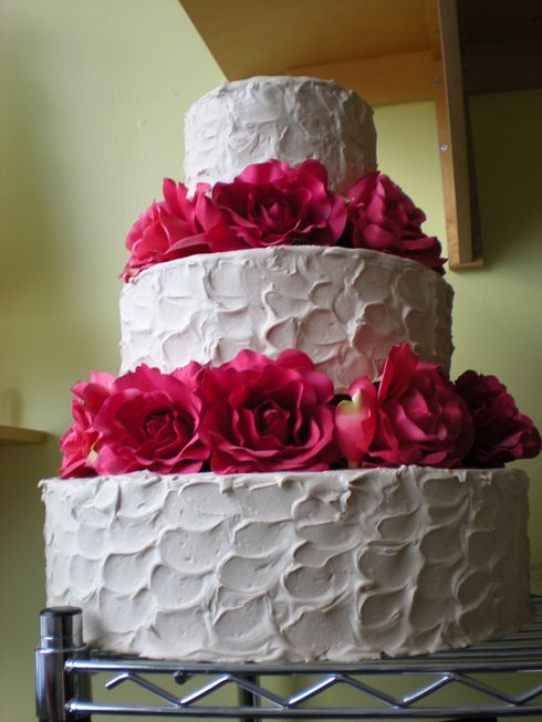 Non Fondant Wedding Cakes  Simple Wedding Cakes Non Fondant