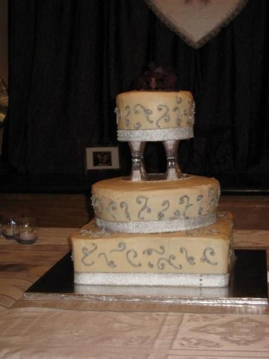 Non Fondant Wedding Cakes  Second Non Fondant Wedding Cake CakeCentral