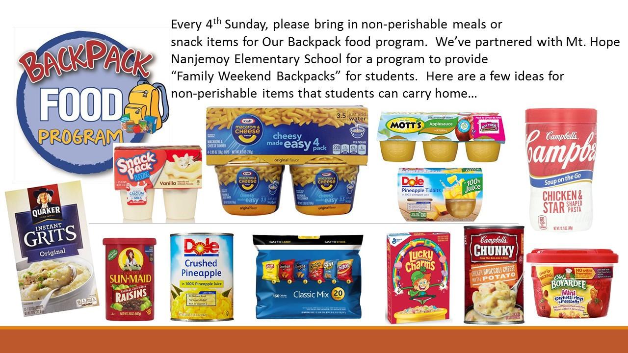 Non Perishable Healthy Snacks  munity Outreach