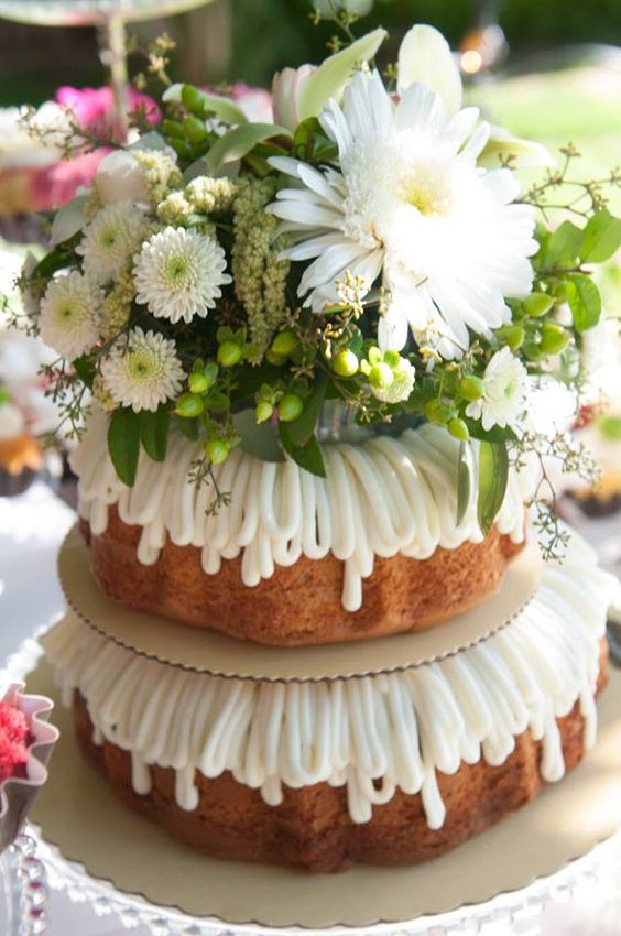 Nothing Bundt Cakes Wedding  What a pretty cake for a shower reception party Nothing