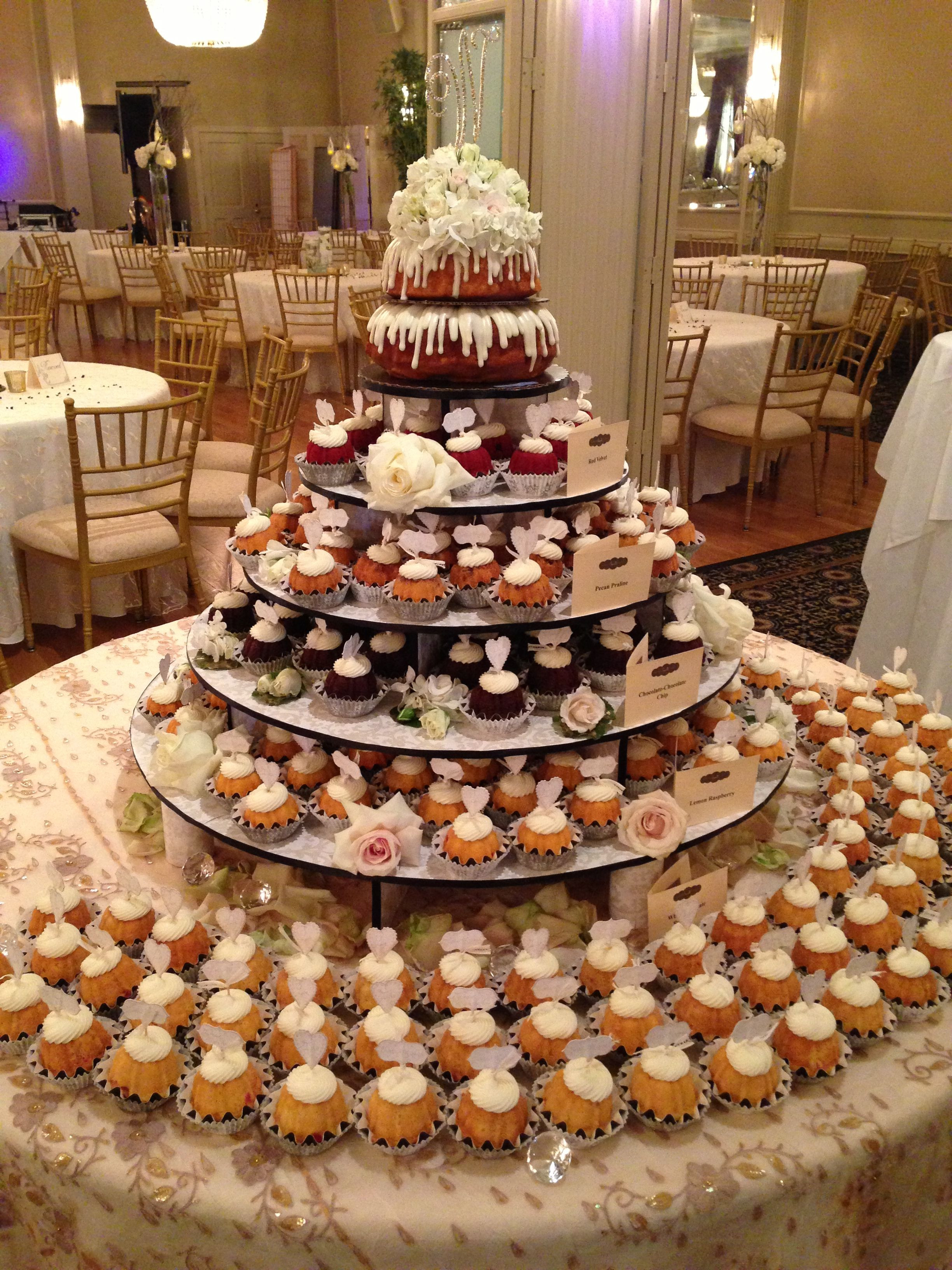 Nothing Bundt Cakes Wedding  Maybe this is the way to go d just have a small cake