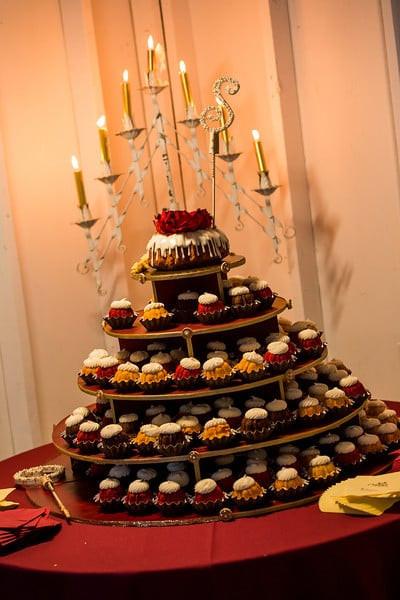 Nothing Bundt Cakes Wedding  Nothing Bundt cakes setup for our wedding