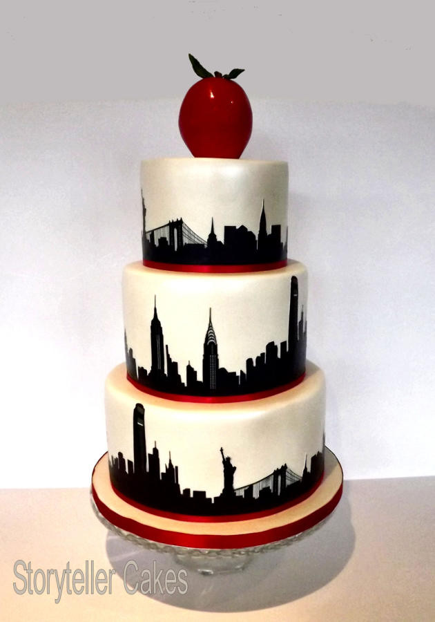 Nyc Wedding Cakes  New York Theme Wedding Cake Cake by Storyteller Cakes