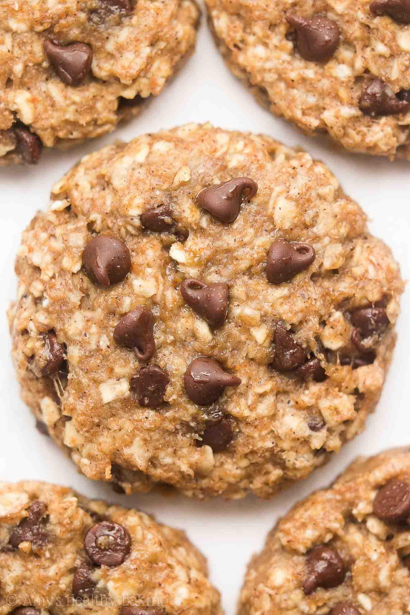 Oat Chocolate Chip Cookies Healthy  Healthy Chocolate Chip Banana Oatmeal Breakfast Cookies
