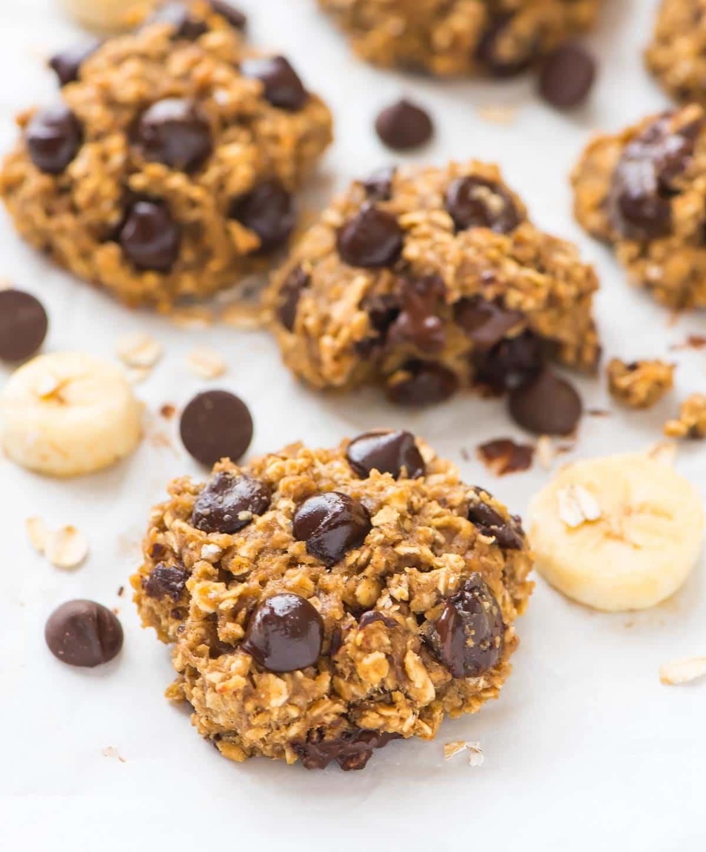 Oatmeal Banana Cookies Healthy  Oatmeal Banana Cookies with Chocolate Chips