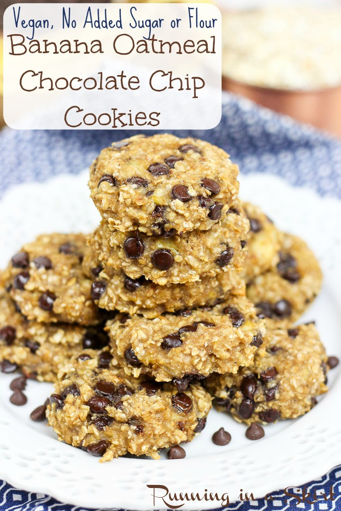 Oatmeal Banana Cookies Healthy  Banana Oatmeal Chocolate Chip Cookies
