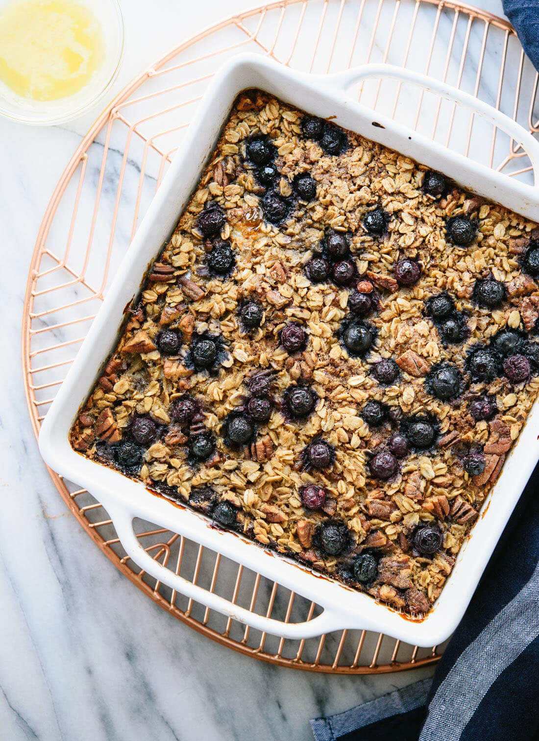 Oatmeal Breakfast Bake Healthy  Baked Oatmeal Recipe with Blueberries Cookie and Kate