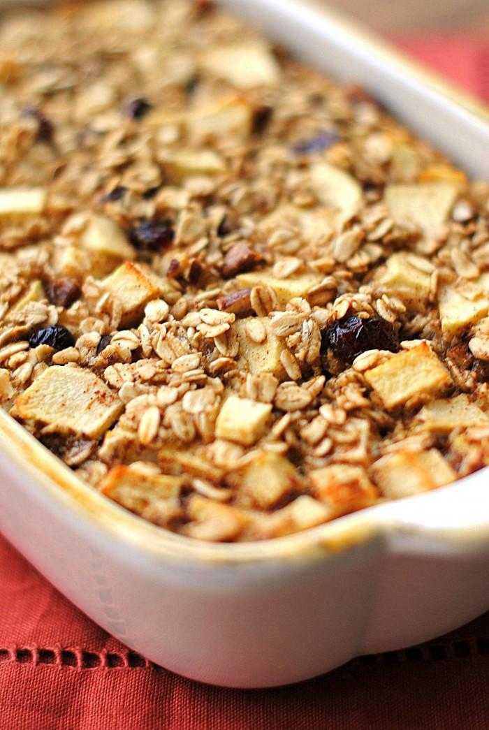 Oatmeal Breakfast Bake Healthy  healthy baked apples with oatmeal