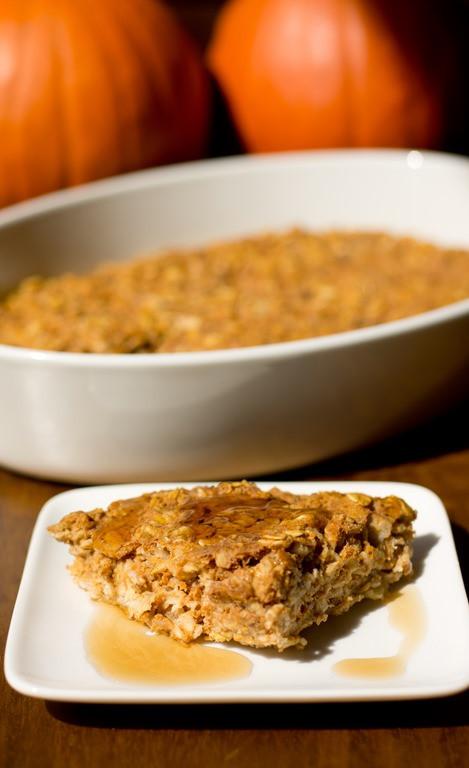 Oatmeal Breakfast Bake Healthy  Healthy Pumpkin Banana Oatmeal Breakfast Bake gluten free