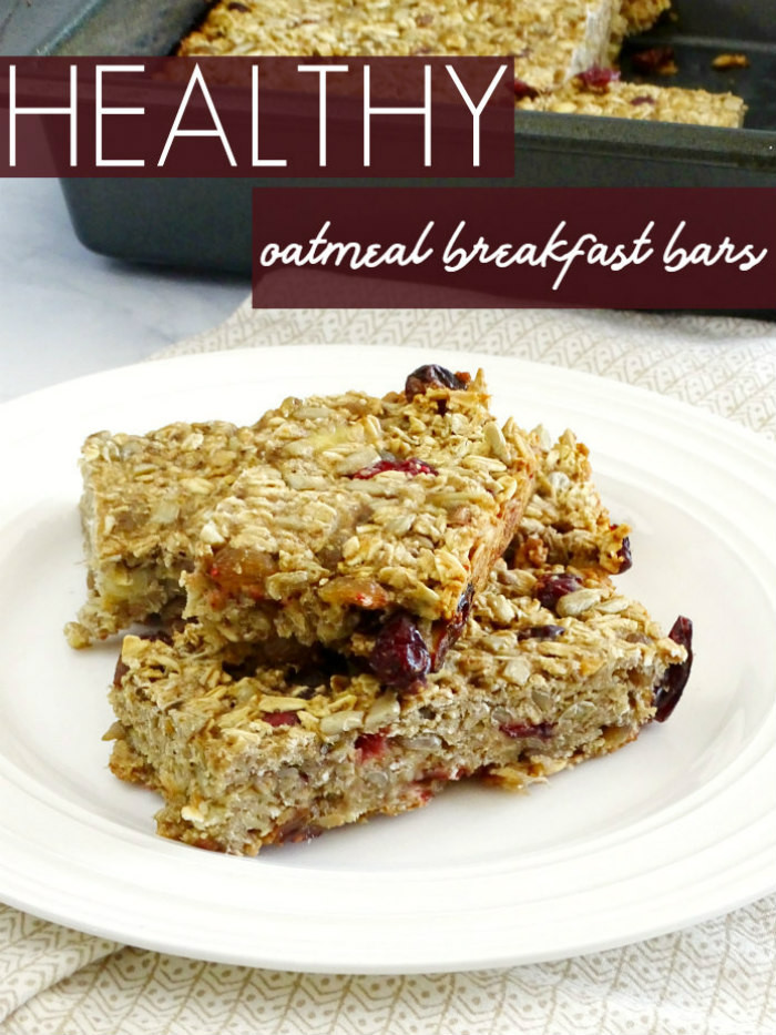 Oatmeal Breakfast Bars Healthy  Healthy Oatmeal Breakfast Bars Living La Vida Holoka