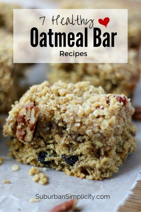 Oatmeal Breakfast Bars Healthy  7 Healthy Oatmeal Bar Recipes