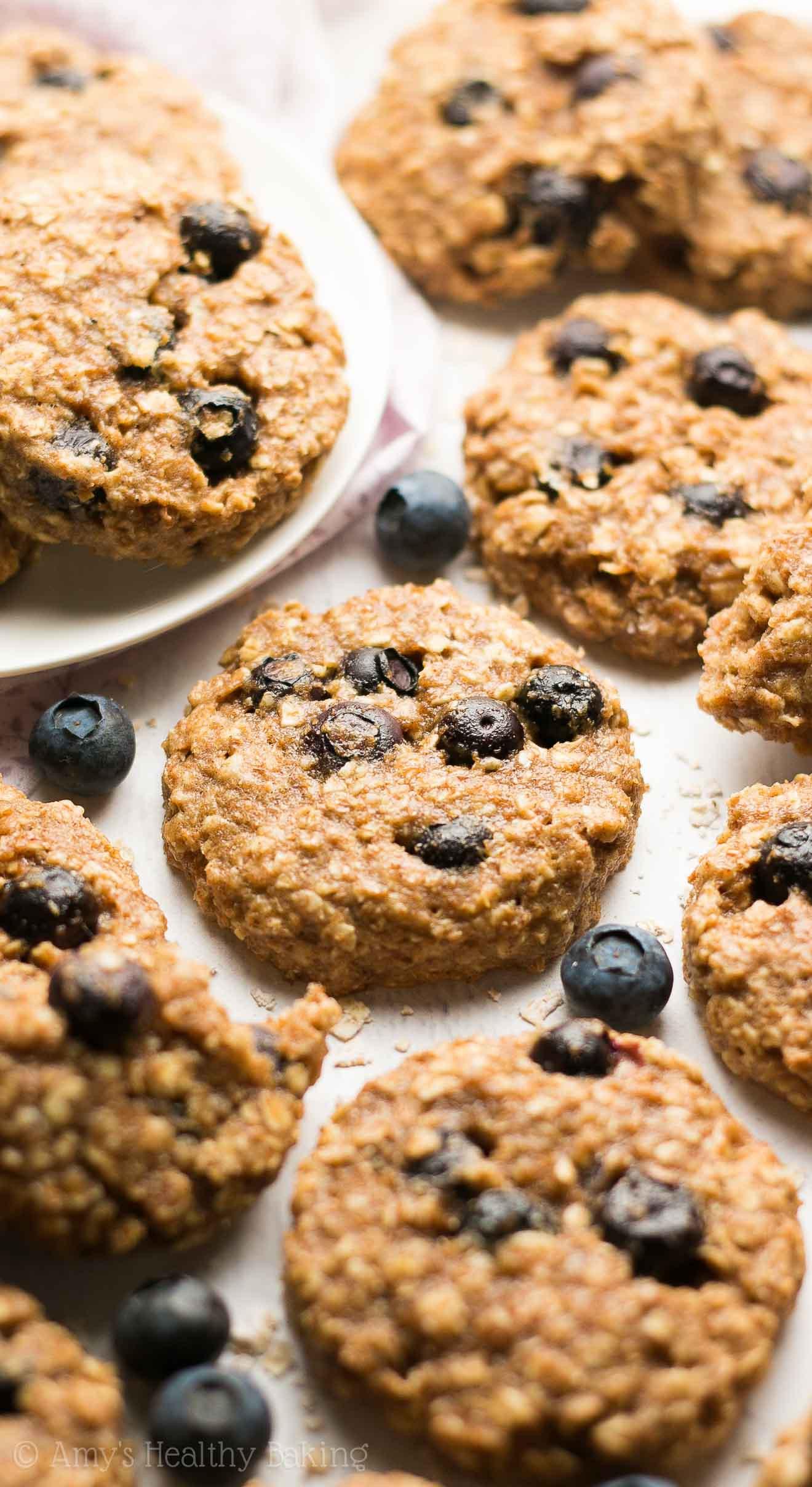 Oatmeal Healthy Breakfast  Healthy Blueberry Oatmeal Breakfast Cookies