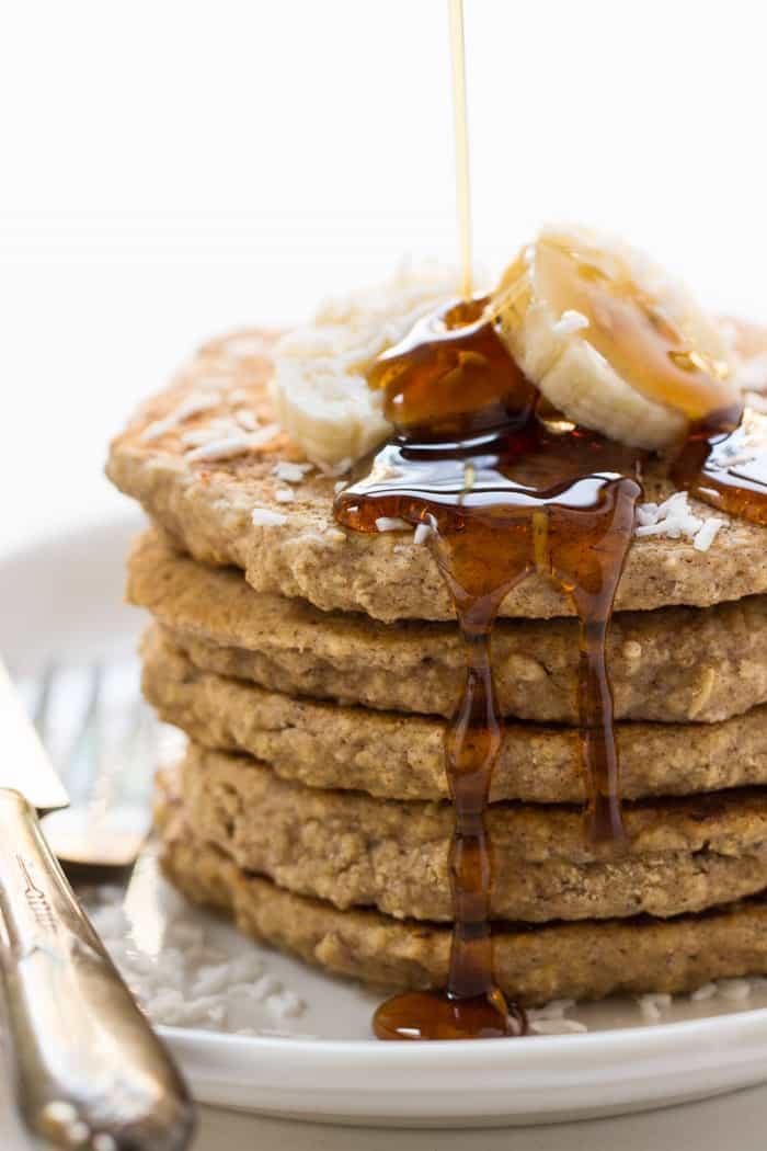 Oatmeal Pancakes Healthy  Vegan Cinnamon Oatmeal Quinoa Pancakes Simply Quinoa
