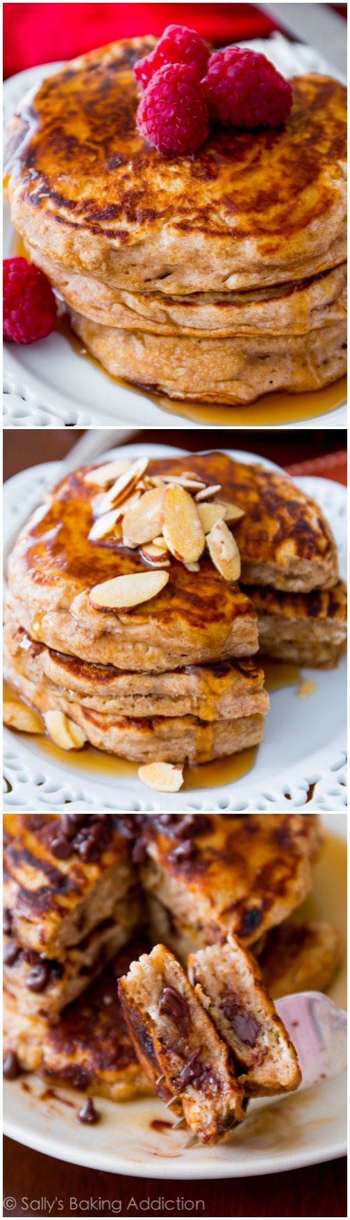 Oatmeal Pancakes Healthy  Whole Wheat Oatmeal Pancakes Sallys Baking Addiction