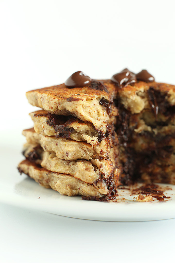 Oatmeal Pancakes Healthy  Healthy Chocolate Chip Oatmeal Cookie Pancakes