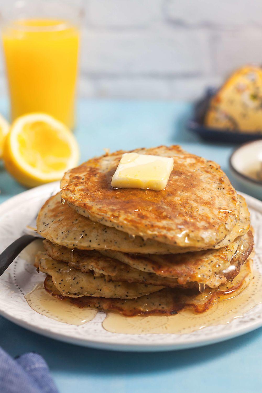 Oatmeal Pancakes Healthy  Lemon Poppy Oatmeal Pancakes