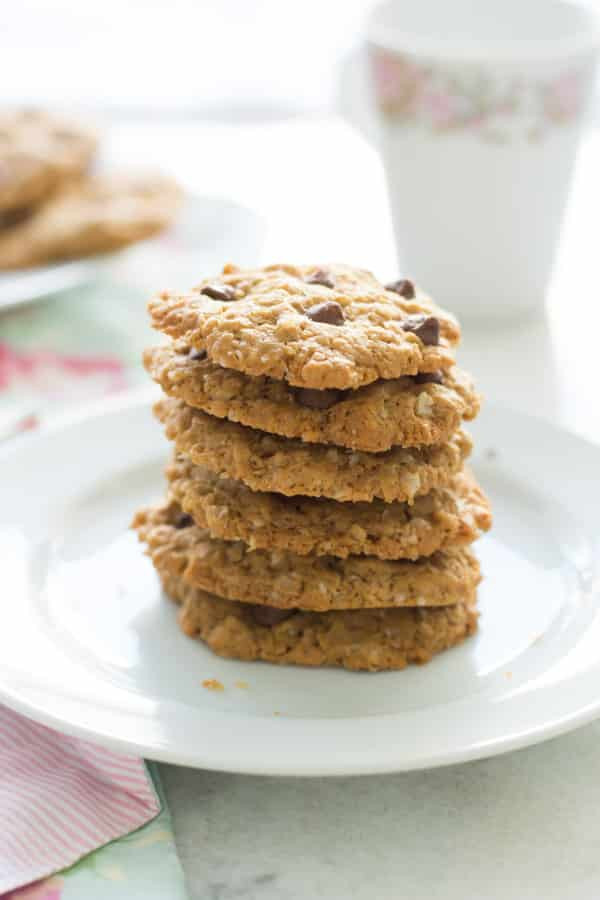 Oatmeal Peanut Butter Cookies Healthy  Healthy Peanut Butter Oatmeal Cookies Primavera Kitchen