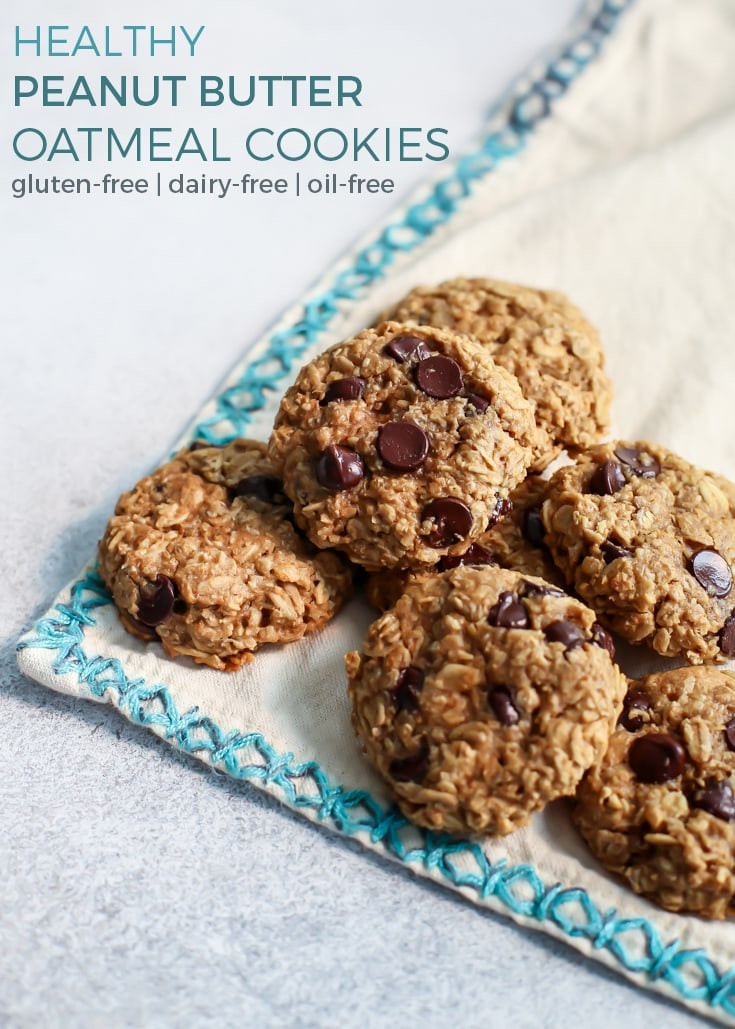 Oatmeal Peanut Butter Cookies Healthy  healthy peanut butter oatmeal cookies