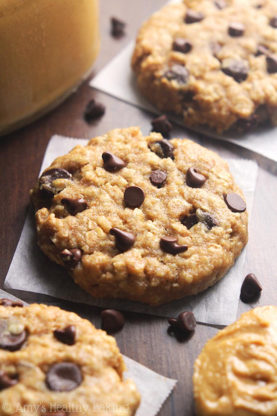 Oatmeal Peanut Butter Cookies Healthy  Chocolate Chip Peanut Butter Oatmeal Cookies Recipe Video