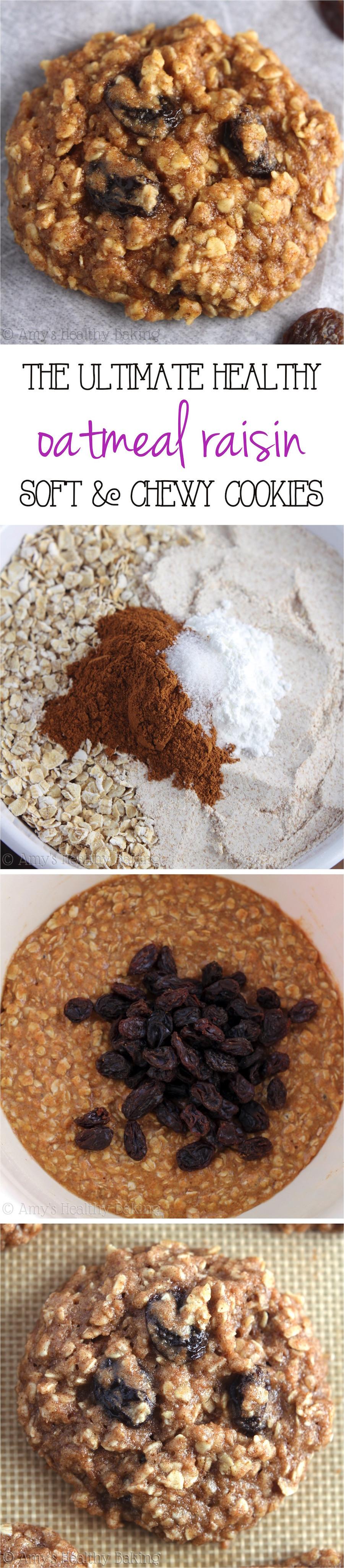 Oatmeal Raisin Cookies Recipe Healthy  The Ultimate Healthy Soft & Chewy Oatmeal Raisin Cookies
