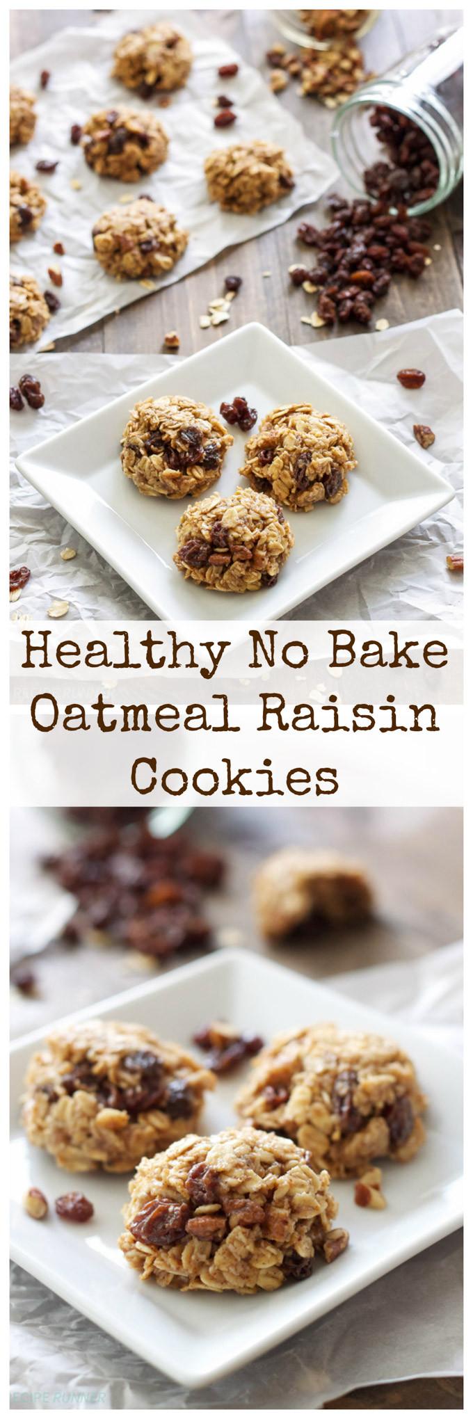 Oatmeal Raisin Cookies Recipe Healthy  Healthy No Bake Oatmeal Raisin Cookies Recipe Runner