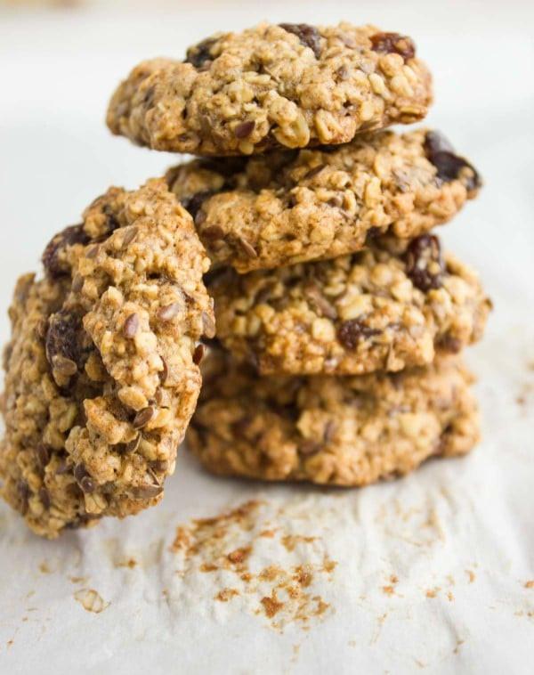 Oatmeal Raisin Cookies Recipe Healthy  Healthy Oatmeal Raisin Cookies • Two Purple Figs