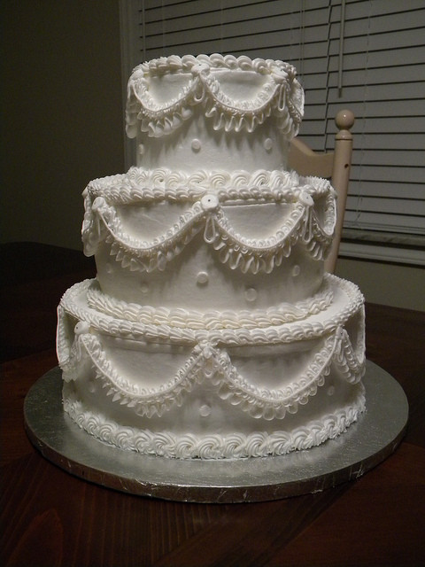 "Old School Wedding Cakes  ""Old School"" Traditional Wedding Cake"