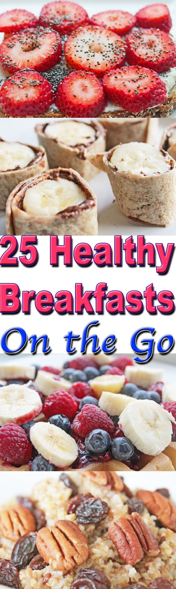 On The Go Healthy Breakfast  healthy breakfasts on the go collage 1