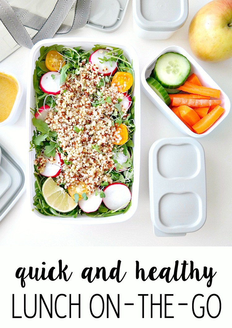On The Go Healthy Lunches  Quick and Healthy Lunch the Go The Glowing Fridge