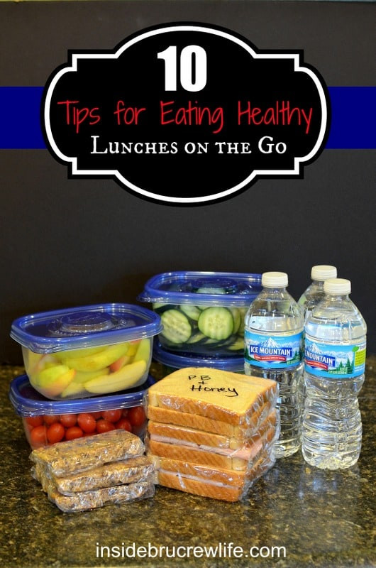 On The Go Healthy Lunches  10 Tips For Eating Healthy Lunches on the Go