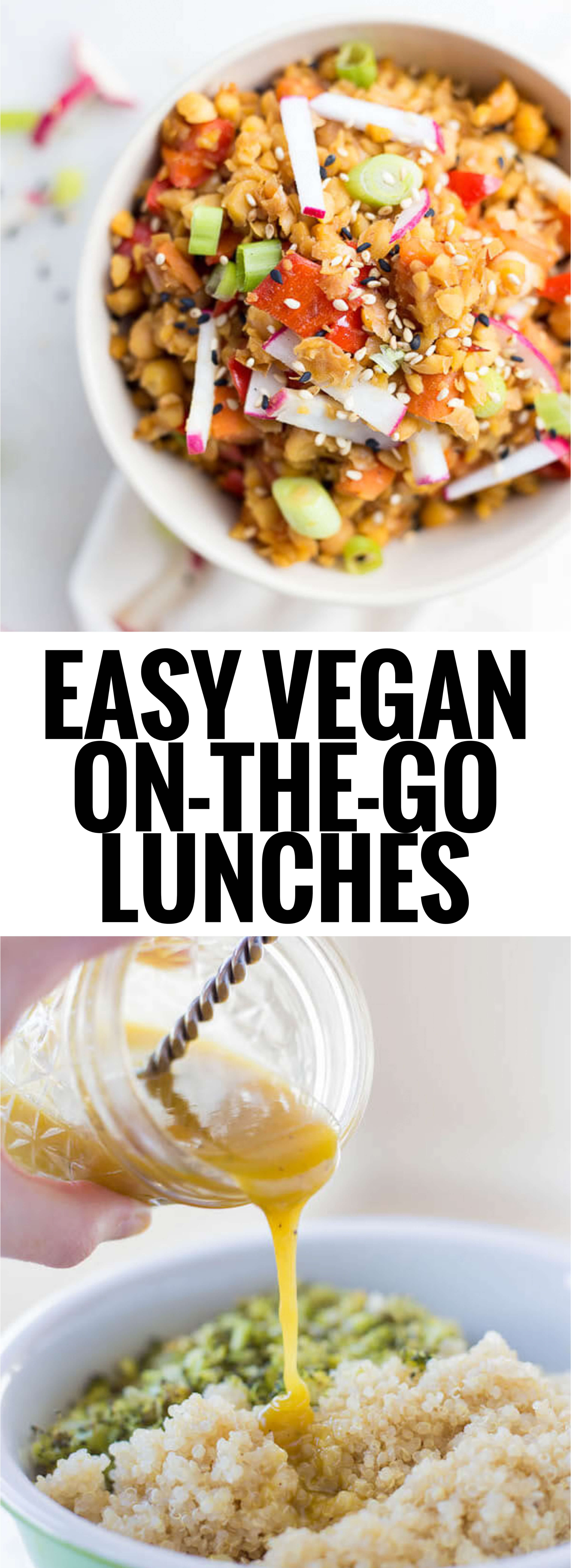 On The Go Healthy Lunches  Easy Vegan the Go Lunches Fooduzzi