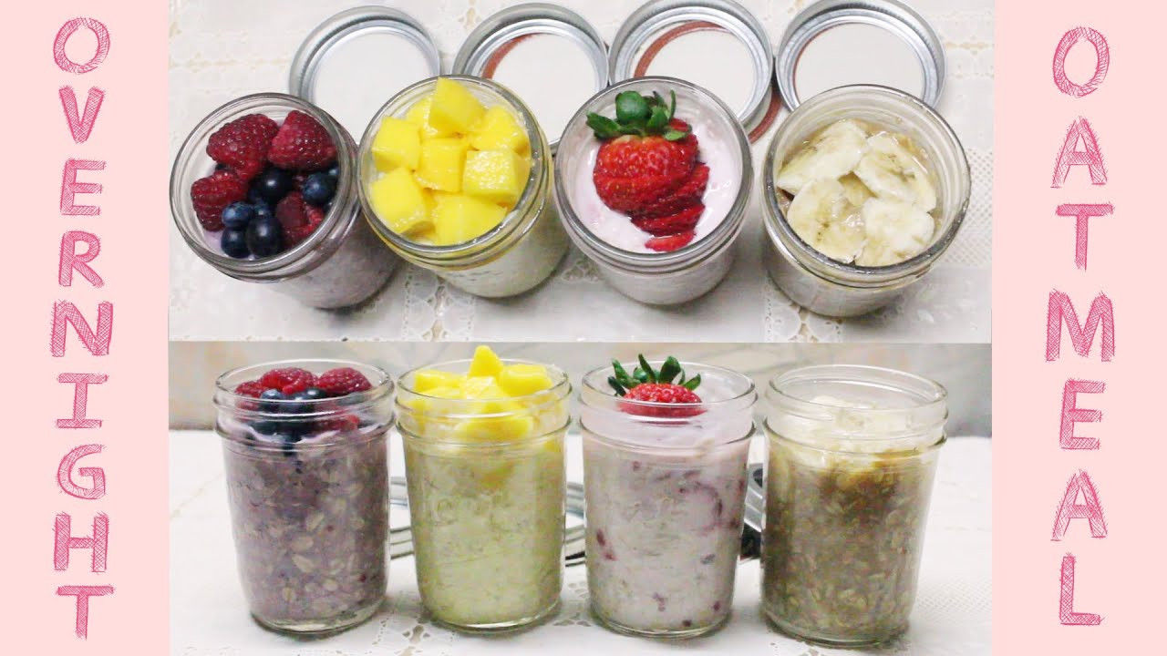 On The Go Healthy Snacks  Healthy Grab n Go Snacks No Cook Overnight Oatmeal