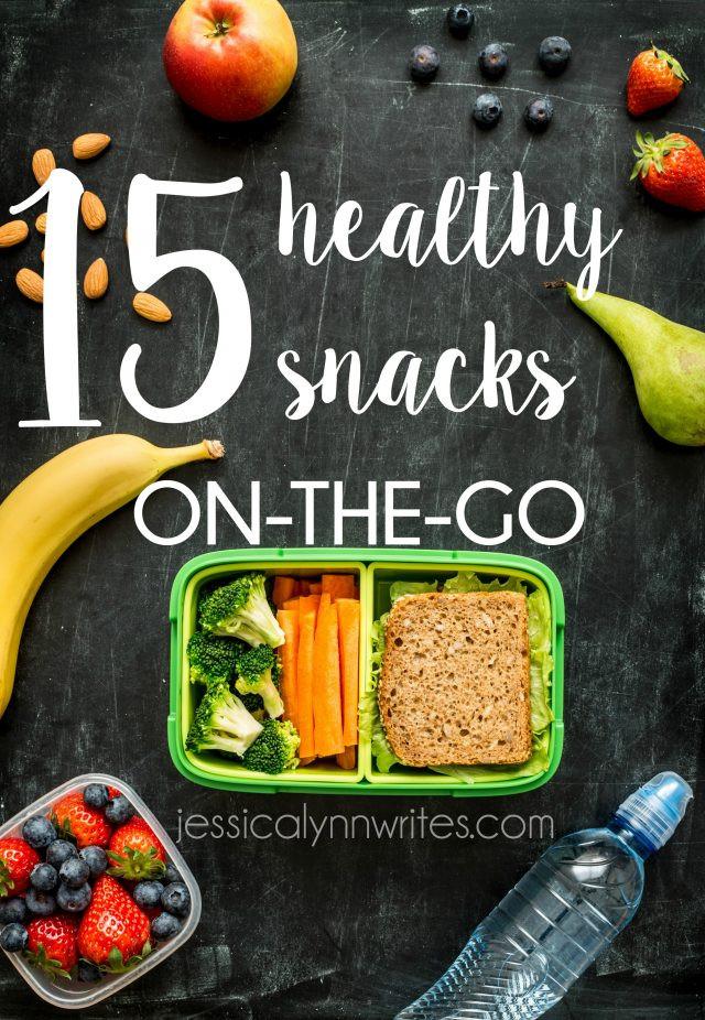 On The Go Healthy Snacks  15 Healthy Snacks on The Go Jessica Lynn Writes