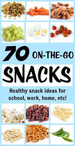 On The Go Healthy Snacks  70 Portable Healthy Snacks