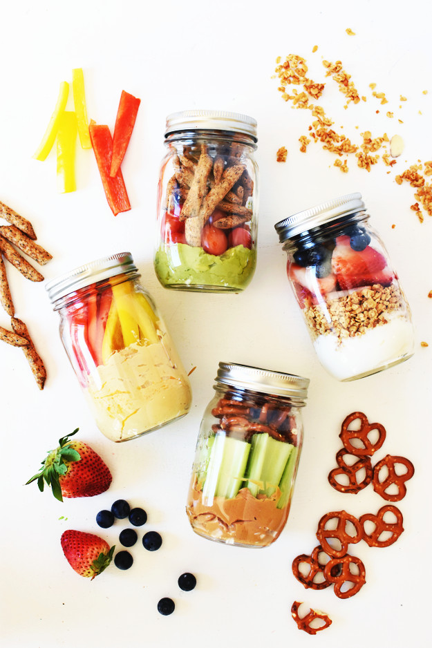 On The Go Healthy Snacks  4 Healthy Grab and Go Snack Jars