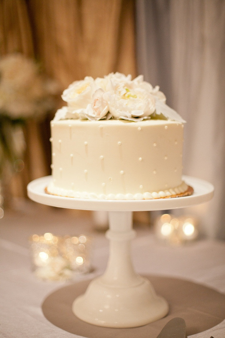 One Tiered Wedding Cakes  Top 12 Single Tier Gumpaste Flower Wedding Cakes – Cheap