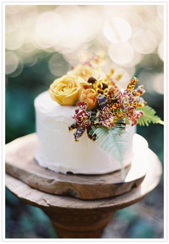 One Tiered Wedding Cakes  e Tier Fall Wedding Cake