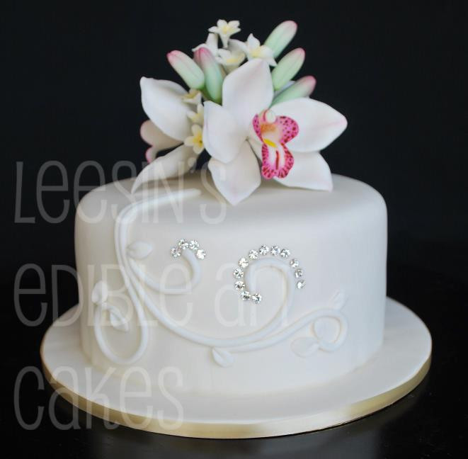 One Tiered Wedding Cakes  Penang Wedding Cakes by Leesin Single Tiered Wedding Cakes